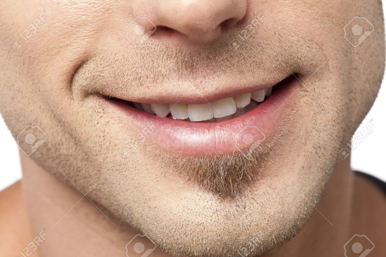 Close Up Image Of Male Lips With A Smile Against White Background Mouth Photography Smile Drawing Lips