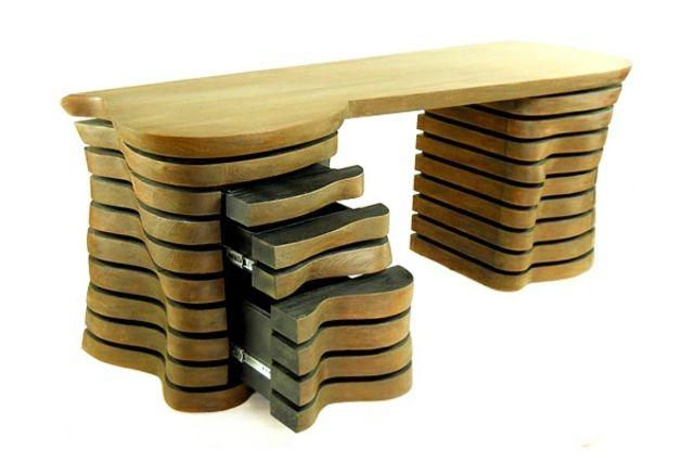 Bureau pliable bois métal blesa design sur sofactory