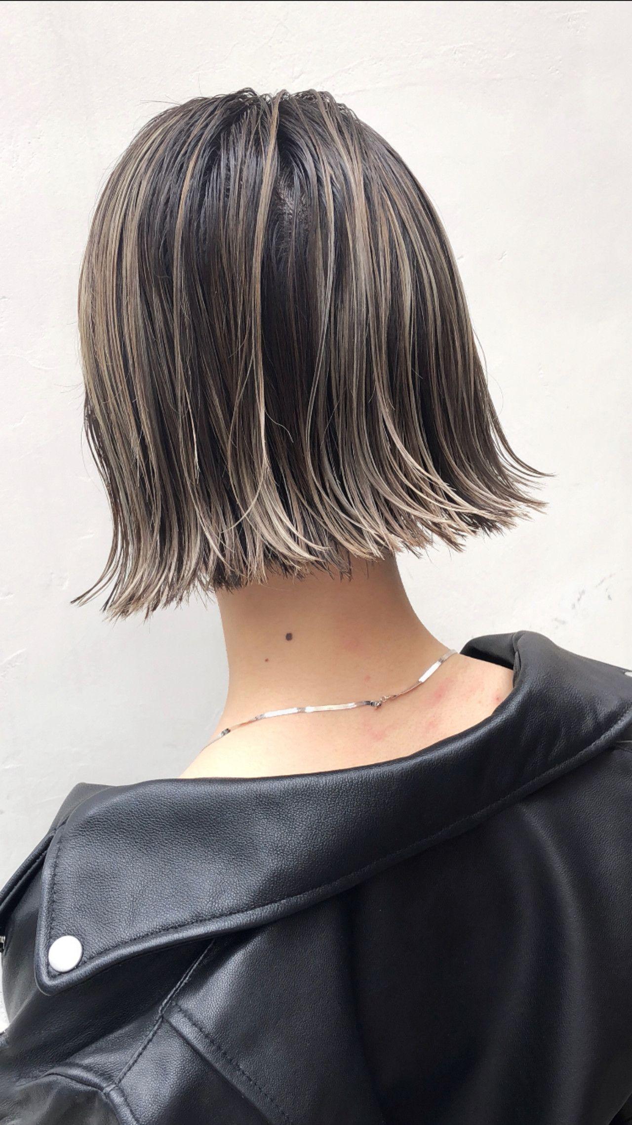 アンニュイほつれヘア 外国人風カラー グレージュ ボブ トルネード 高