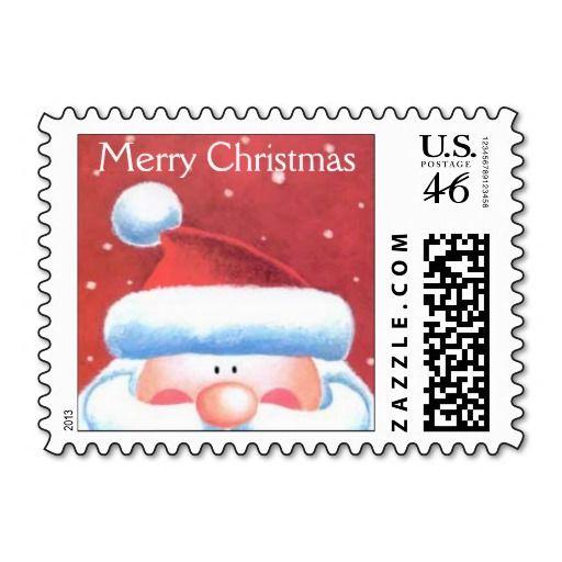 Santa Postage Stamp Christmas Holiday Postage Stamps