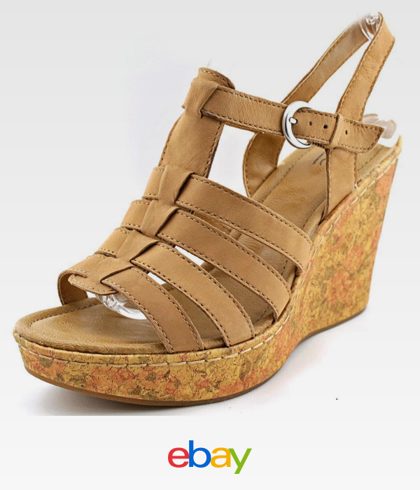 Dilani Open Toe Leather Wedge Sandal in Clothing, Shoes & Accessories, Women's  Shoes, Sandals & Flip Flops