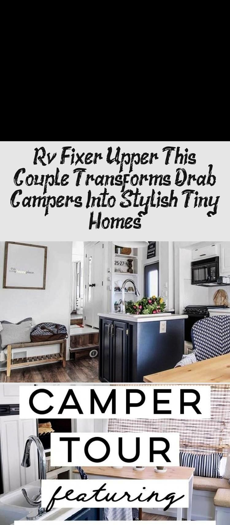 Fixer Upper: This Couple Transforms Drab Campers Into Stylish Tiny Homes! Rv Fixer Upper: This Coup