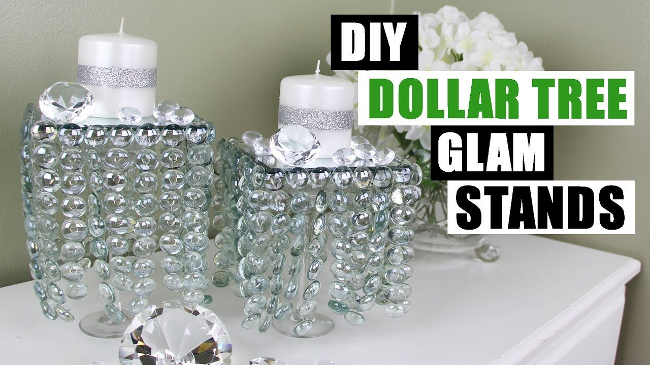 Diy dollar tree glam decor stands dollar store diy candle holders