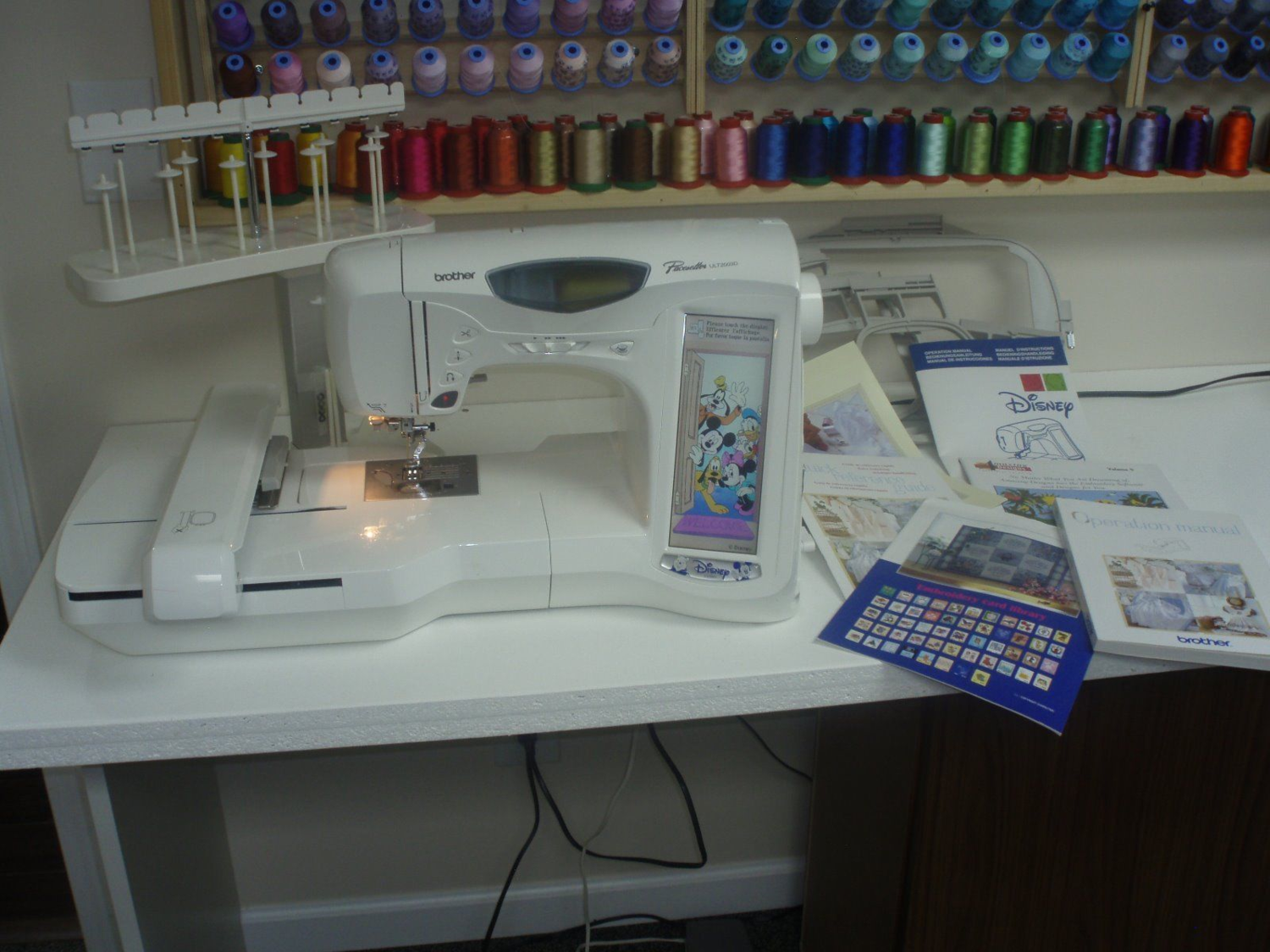 Brother Pacesetter Ult 2003d Disney Quilting Embroidery Sewing Machine Embroidery Machines For Sale Sewing Machine Quilting Machine Embroidery