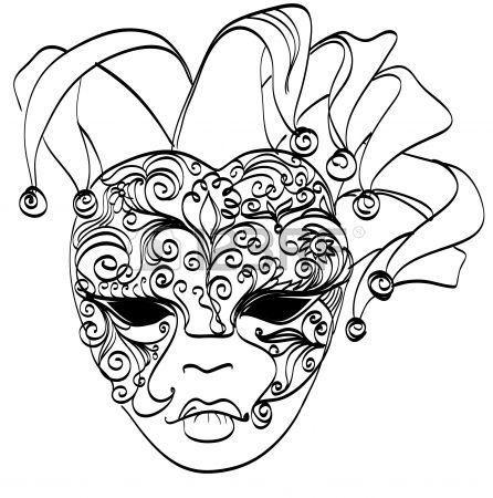 Dibujo vectorial máscara veneciana del carnaval máscara de