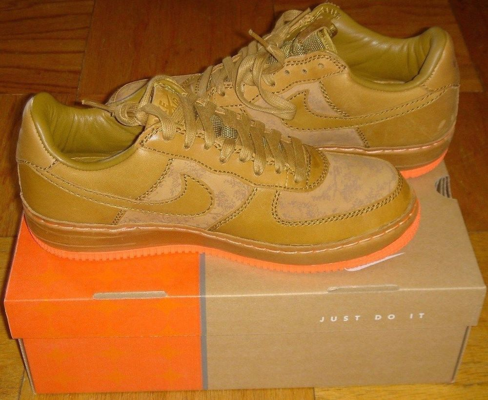 newest f1933 3b975 Nike Air Force 1 Size 8.5 Low Inside out Maple Golden Mango New Box 312486  271 Nike AthleticSneakers