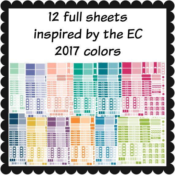 12 full sheets inspired by the EC monthly by ImagineThatbyLori