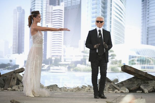 Image result for karl lagerfeld on runway