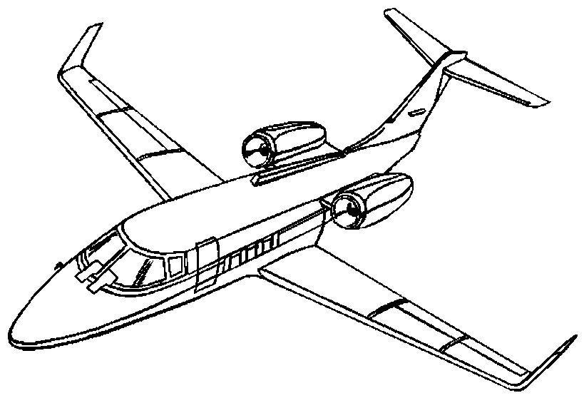 Dibujos Para Colorear Avion Comercial Aeropuerto Airplane