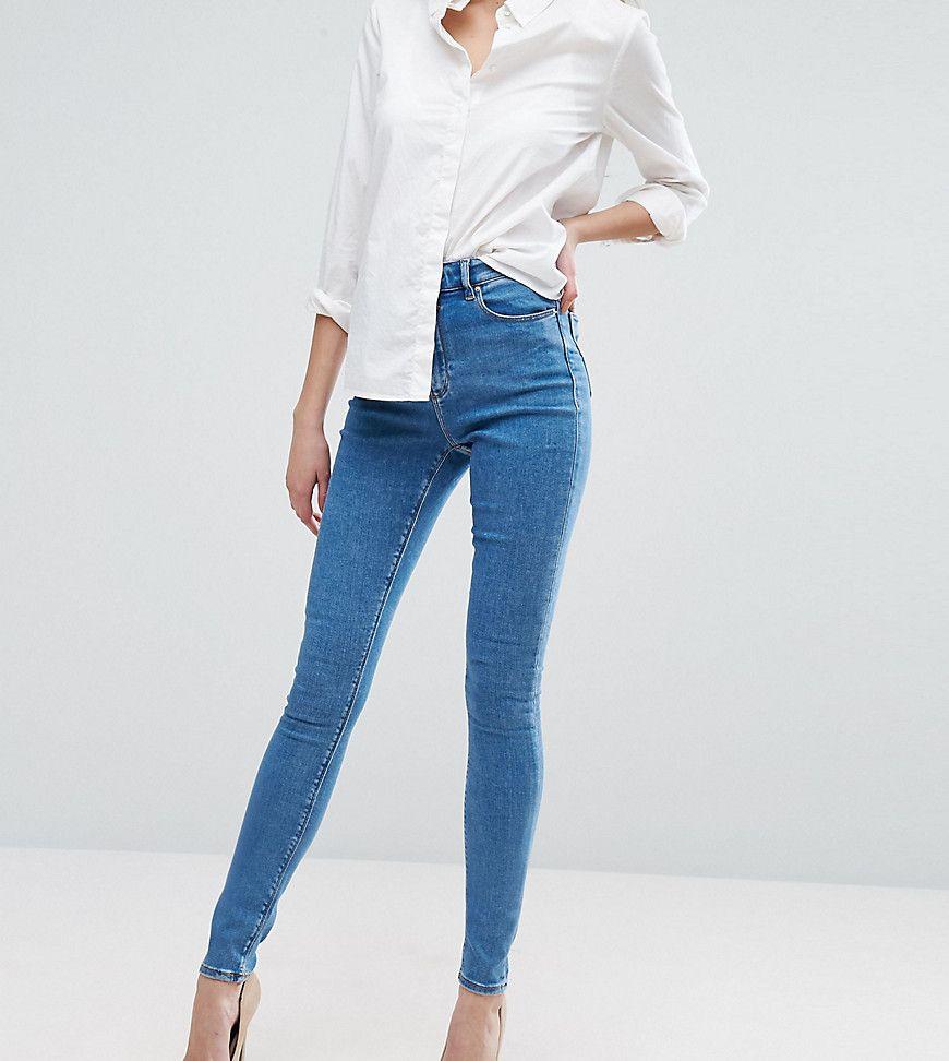 bc3c0adedc7 DESIGN Tall Ridley high waist skinny jeans in light wash   Fashion ...