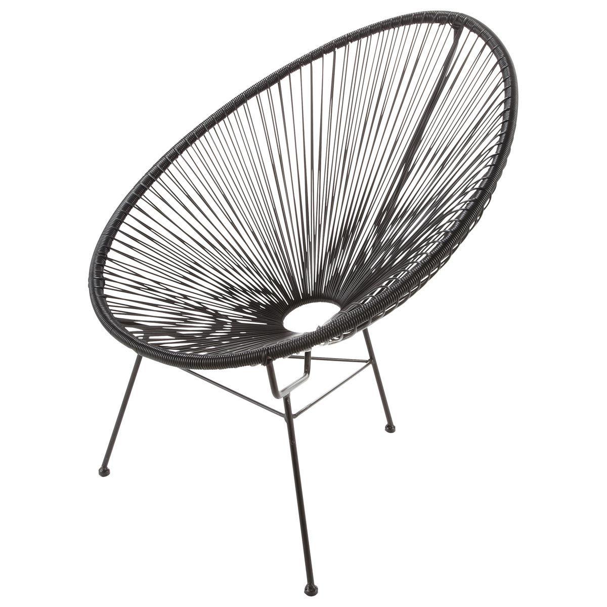 Fauteuil de jardin rond noir | furniture | Pinterest | Furniture ...