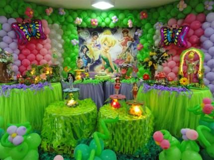 Tinkerbell party theme decoration  Tinkerbell party theme