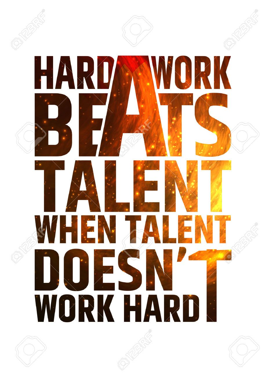 Image result for hard work beats talent when talent