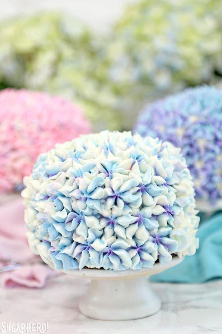 Hydrangea Cakes - Wunderschöne Minikuchen, die aussehen ...