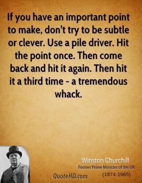 Winston Churchill Time Quotes