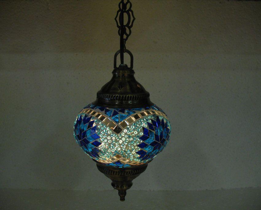 Moderne Lampen 60 : Blue mosaic hanging lamp türkische lampen moroccan lantern lampe