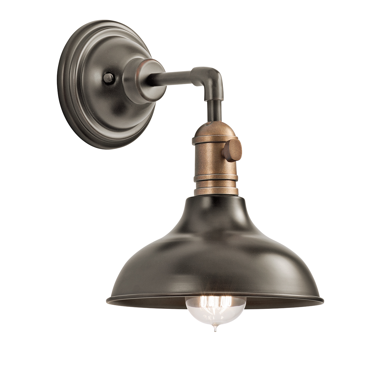 Kichler Cobson Wall Sconce - Bronze | Wall sconce lighting ... on Kichler Olde Bronze Wall Sconce id=43513