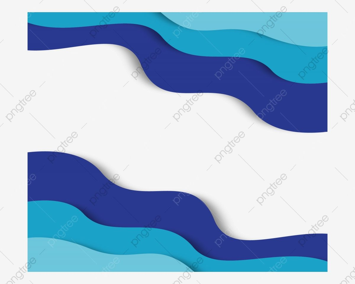 Abstract Border Blue Border Blue Wave Wavy Border Artistic Sense Abstract Border Blue Border Png And Vector With Transparent Background For Free Download Blue Waves Wave Illustration Graphic Design Background Templates