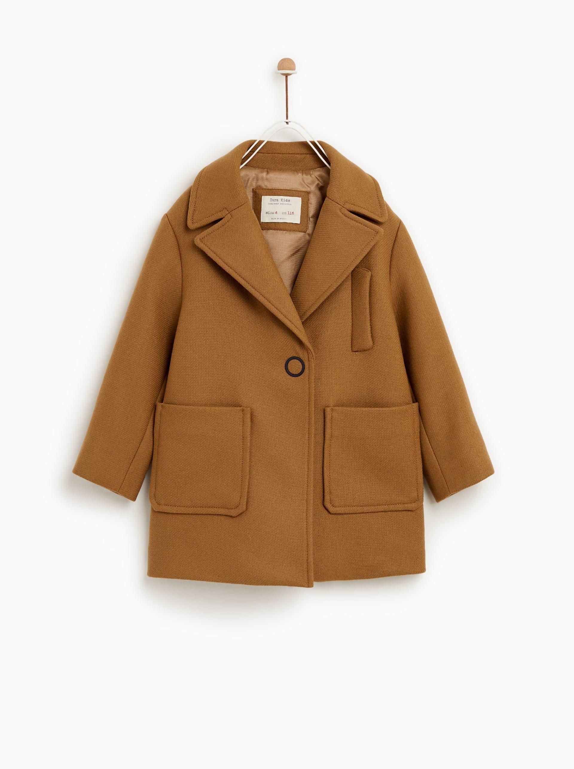 top-rated cheap popular style on wholesale LAPEL COAT from Zara | Girls | Zara kids, Coat, Zara baby