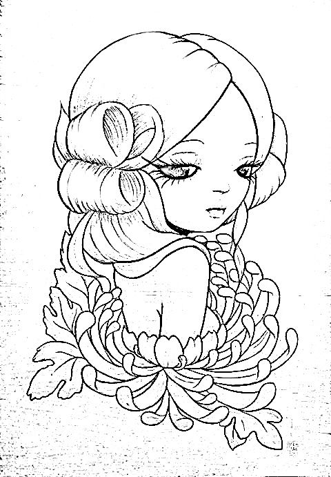 flower girl coloring bookadult - Flower Girl Coloring Book