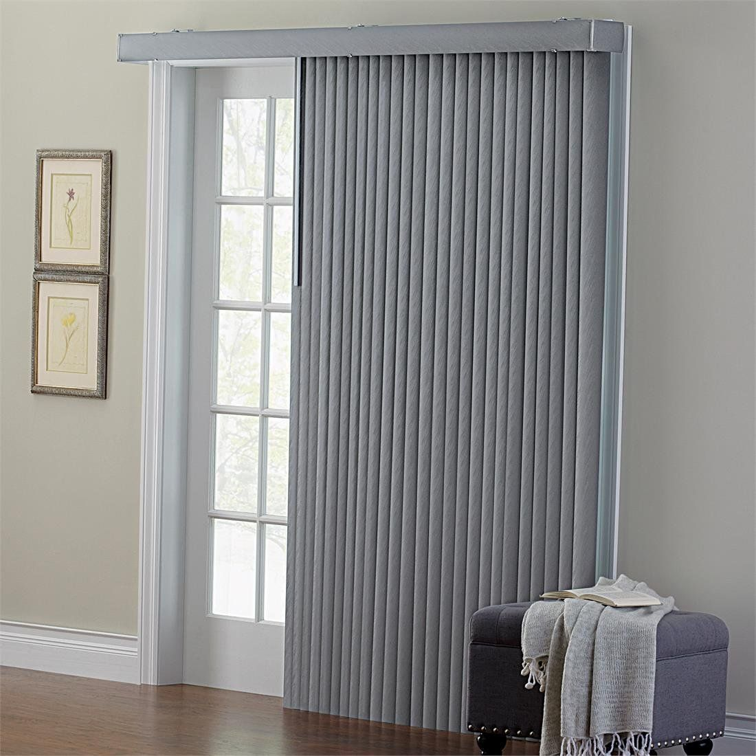 Embossed vertical blinds grey window treatments pinterest