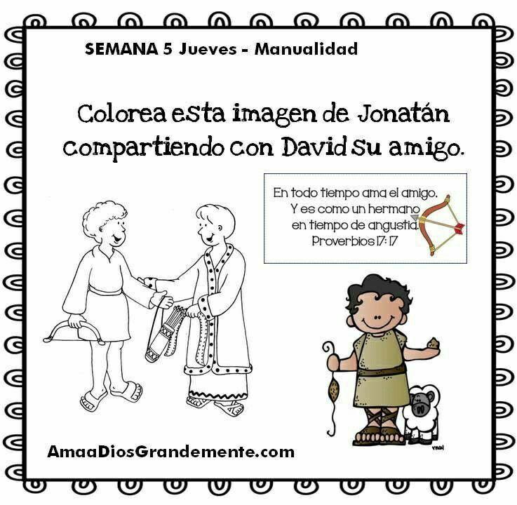 Semana 5 JUEVES - Manualidad - David Niños \