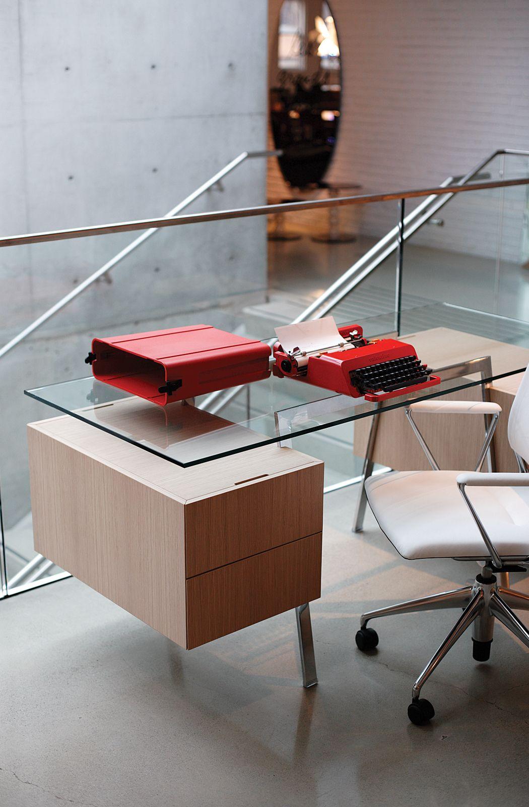 homework desk double drawer designed by niels bendtsen
