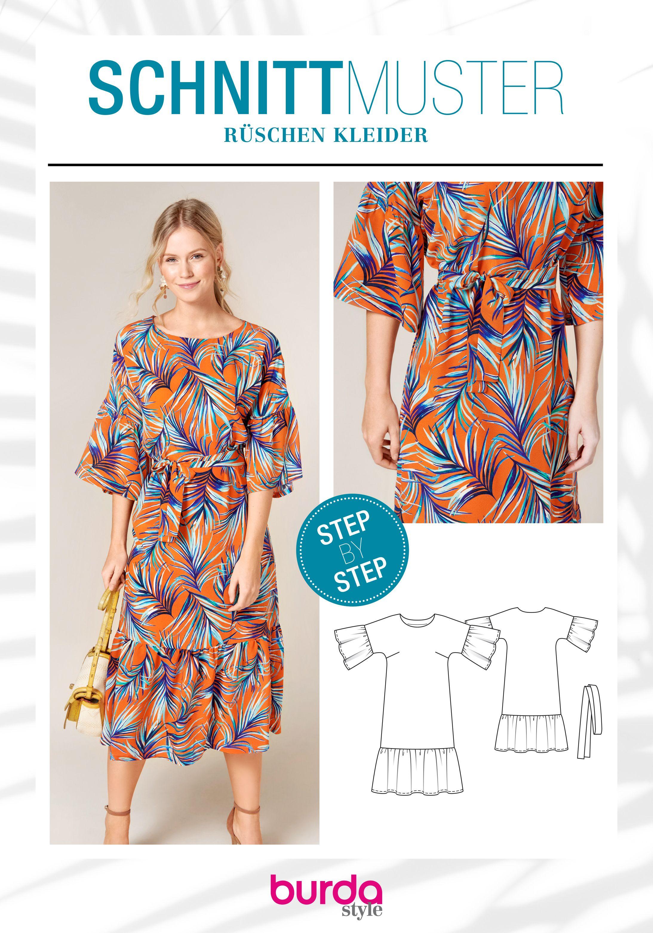 69994e93798e Schnittmuster · Rüschenkleid · Dieses Kleid bringt die Herzen aller ...