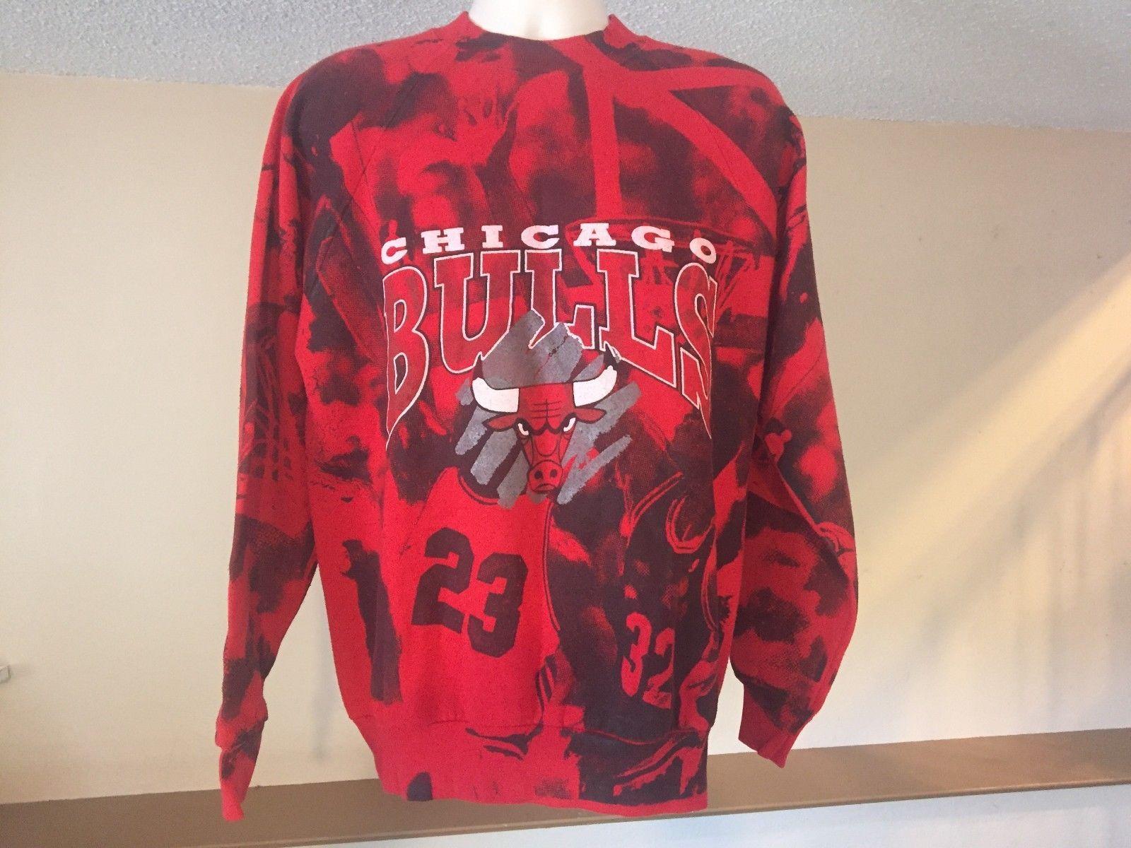 Rare Vitg Chicago Bulls Michael Jordan Sweater WPL5986  100% Cotton USA MADE XL