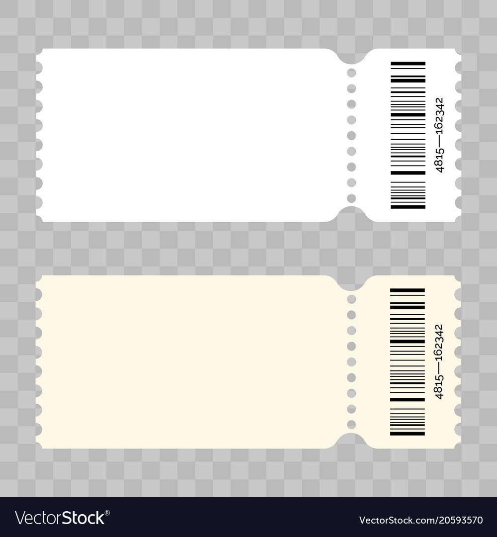 Ticket Template Modern Trendy Blank Design Vector Admit Ticket With Barcode For Cinema Movie Musi Ticket Template Ticket Design Template Ticket Template Free