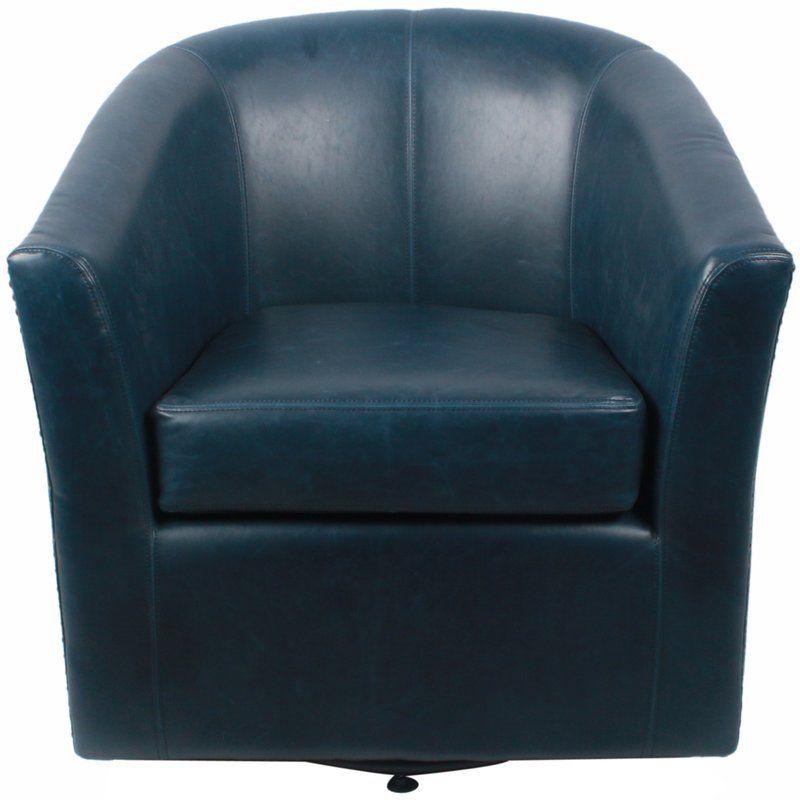 Rabinowitz Swivel Barrel Chair Swivel Barrel Chair Leather Swivel Chair Barrel Chair