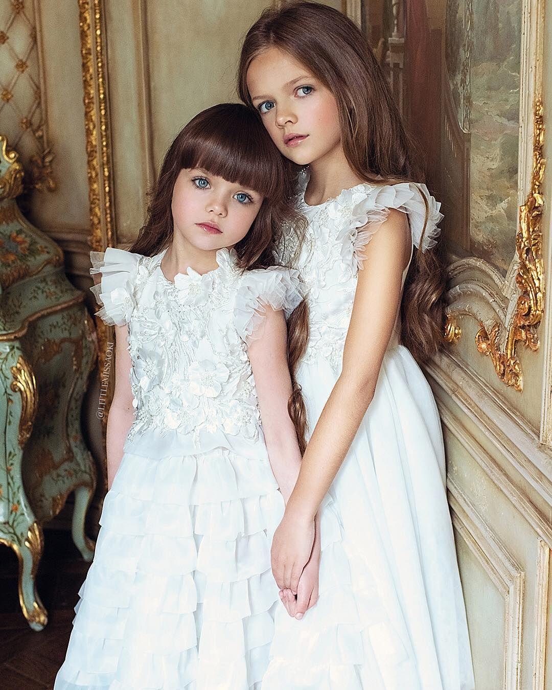 f72f0ebecf39b0 Little Miss Aoki  littlemissaoki Instagram Beautiful Anastasiya and Milena  in  littlemissaoki dresses 💐🌸💕 A diffusion line of  MischkaAoki - Av..