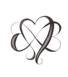 Infini Avec Coeurs Enchevetres Tattoo Ideas Tattoos Heart With