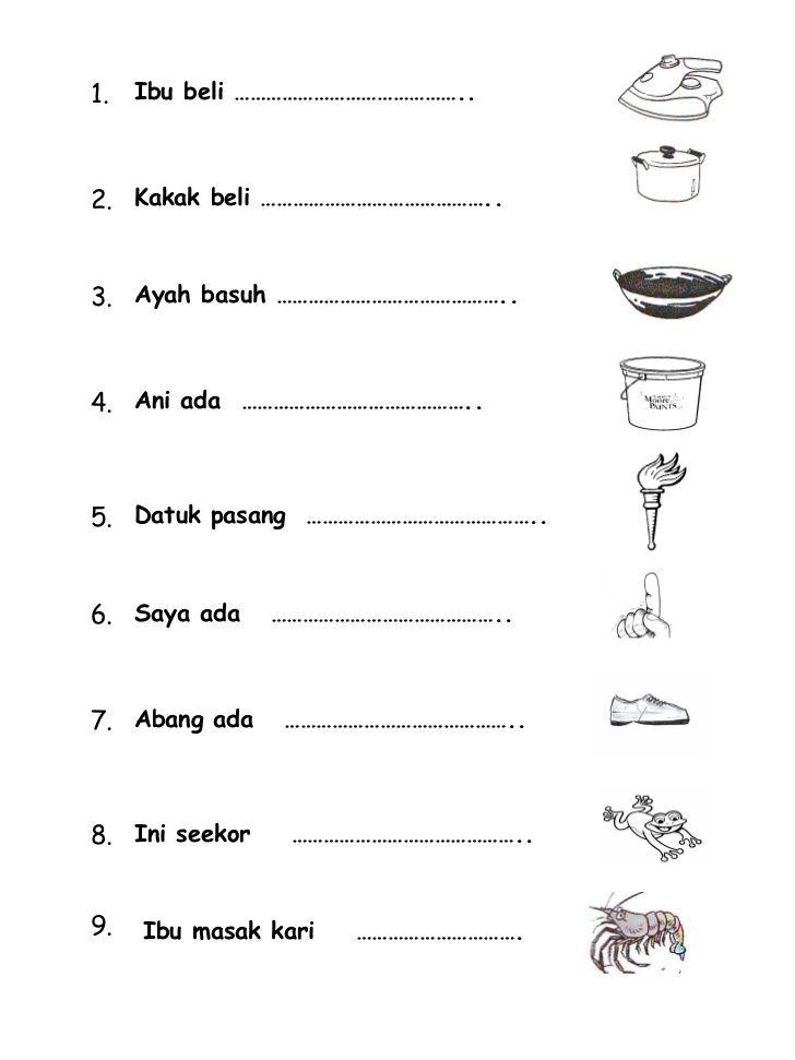 Bahasa Malaysia Tahun 1 Latihan Kata Nama Am 4 With Images Kindergarten Math Worksheets Cute766