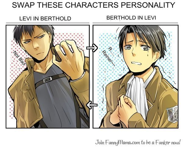 Anime/manga: SNK, LOL love the Berthold in Levi swap!: