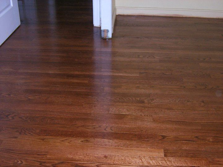 Old Floors After Staining And Refinishing With Minwax Red Oak Stain