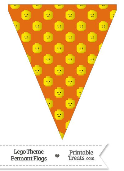 Orange Lego Theme Pennant Banner Flag From Printabletreats Com