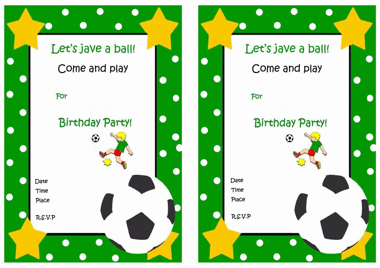 Soccer FREE Printable Birthday Party Invitations | Birthday Party ...