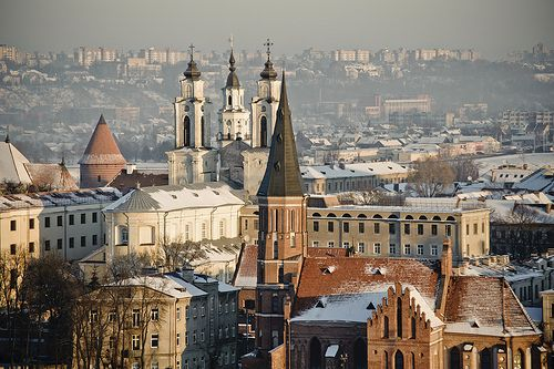 Old Town in Kaunas, Lithuania