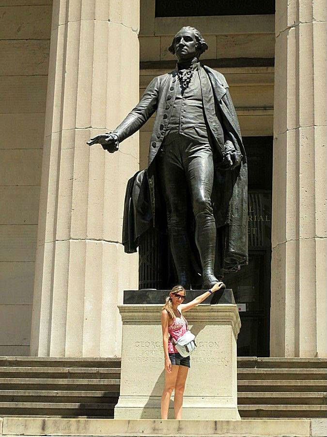 Bronze Statue Of George Washington 1882 By John Quincy Adams Ward At Federal Hall National Memorial 26 Wall Street New York City John Quincy Adams Adam Ward Statue