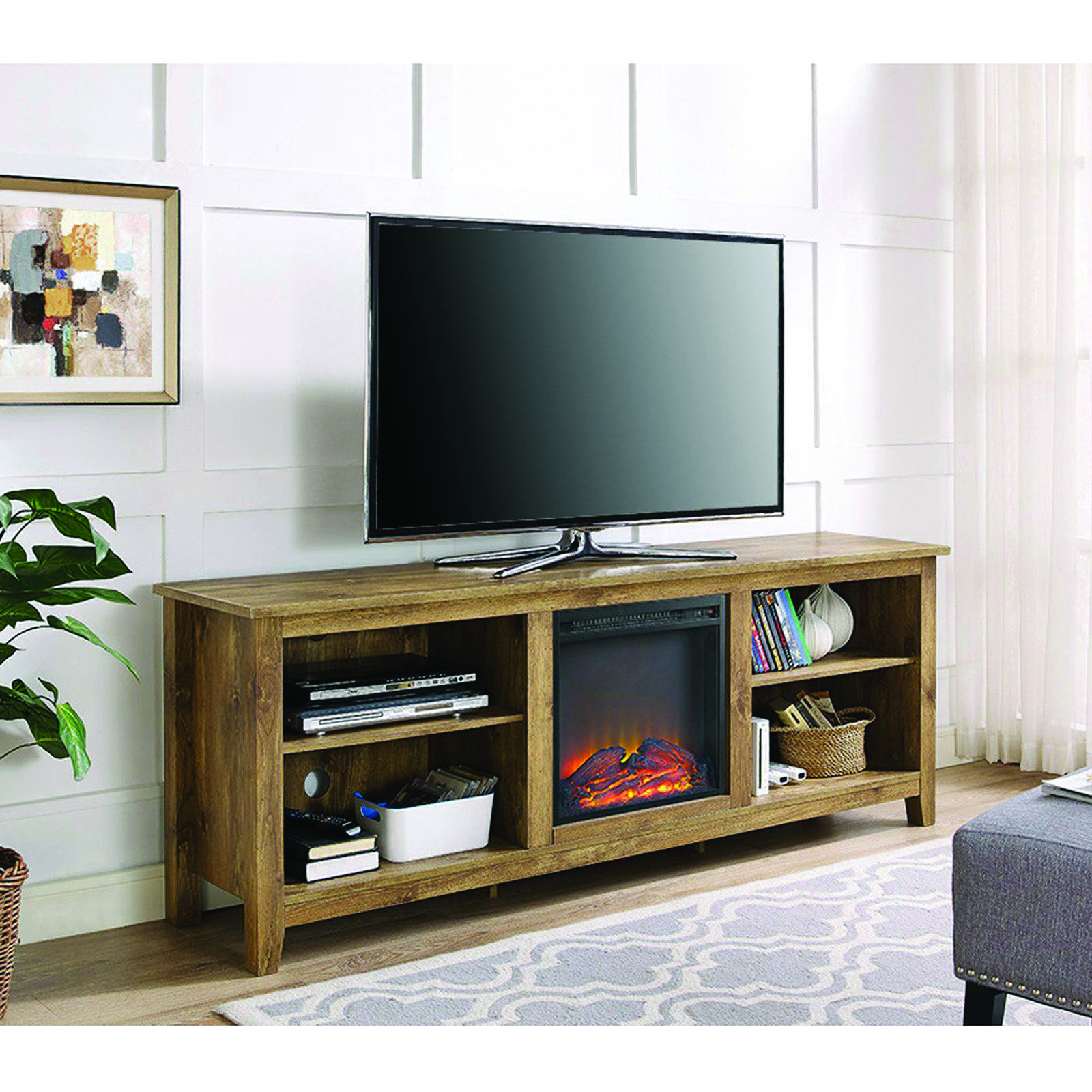 Different Fireplace Tv Stand At Bjs Only On This Page Fireplace