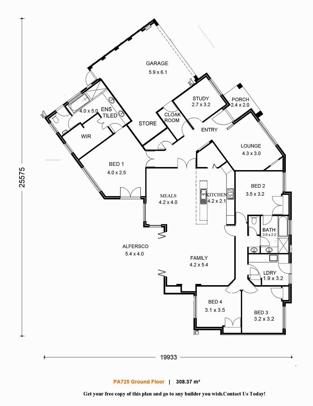 single level home design i like the overall design of this floor plan i dont like that the study is one of the first rooms you come to upon entering the - One Level Home Designs