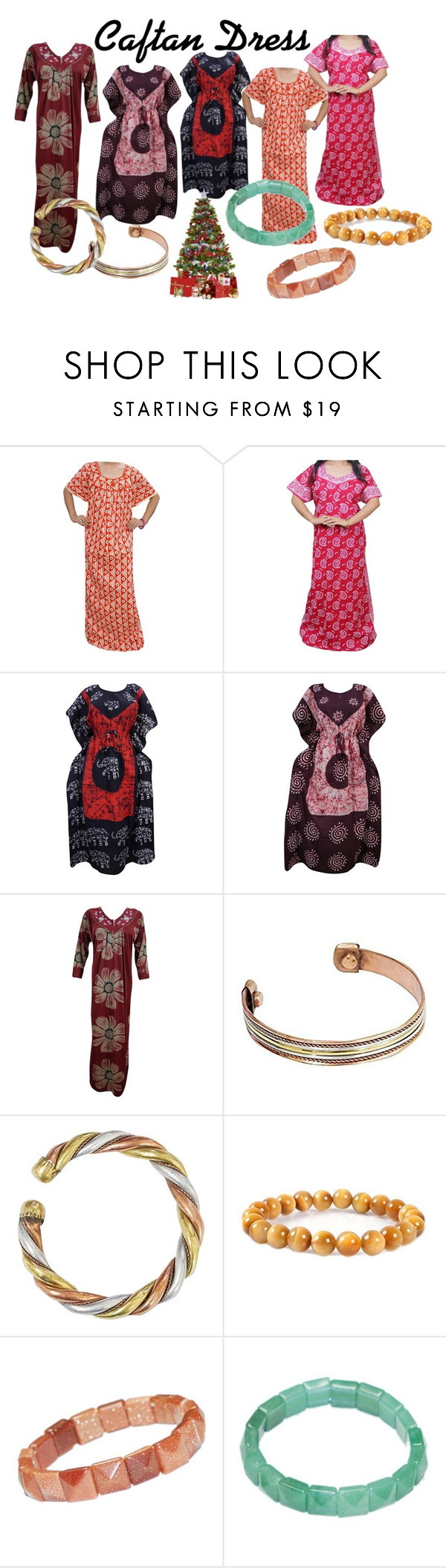 """""""Women's Boho Caftans"""" by era-chandok ❤ liked on Polyvore featuring Therapy, maxidress, Bohemian, kaftan, coverUp and Christmassale"""