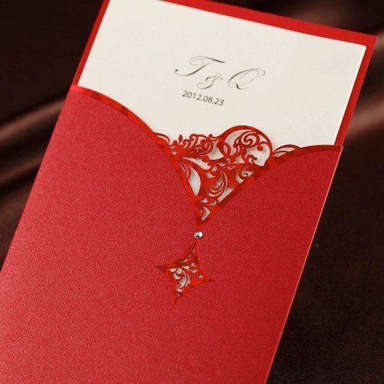 Wedding invitation card customised printing CW1022 wedding favors