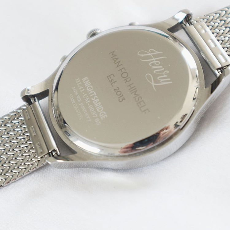 Have your favourite quote engraved on your watch or simply
