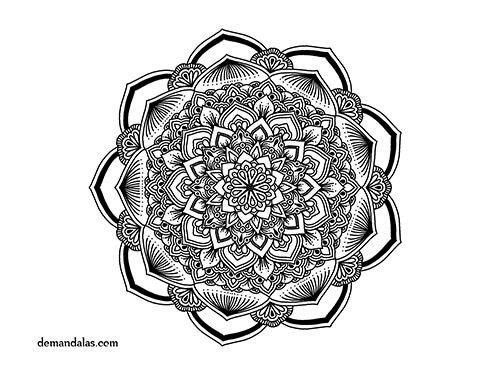 Dibujos Para Colorear Para Adultos Faciles: Mandala Para Imprimir Adultos