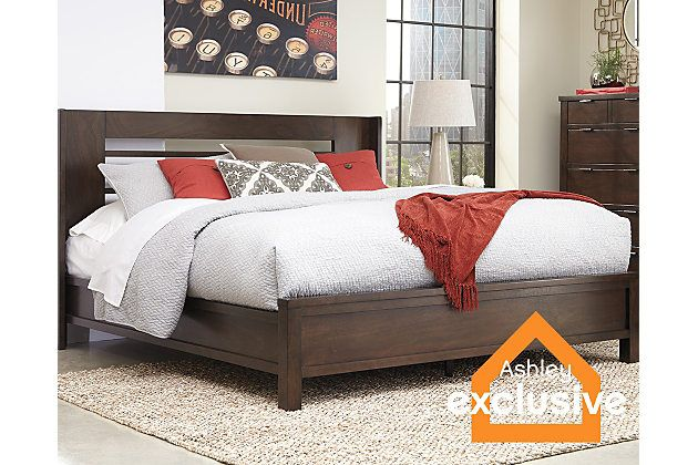 Brown Molanna King Panel Bed View 1 Master Bedrom Pinterest