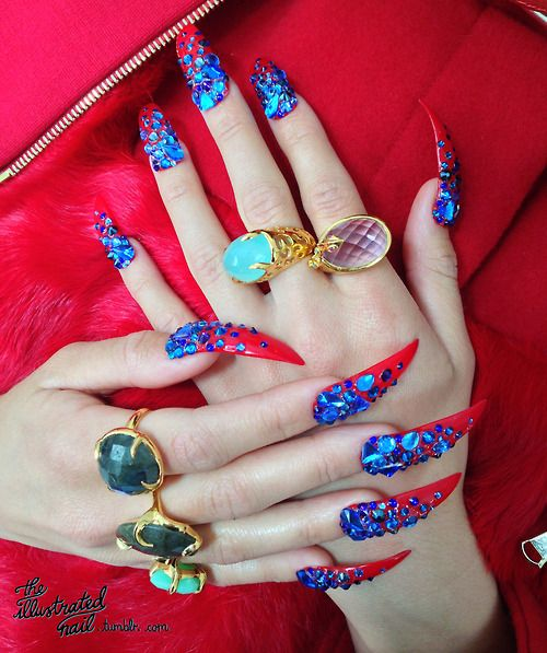 Nails for FAULT MAGAZINE, THE FACE, A/W 2013 using @Swarovski... - http://www.buzzenperf.fr/nails-for-fault-magazine-the-face-aw-2013-using-swarovski/   #NailArt