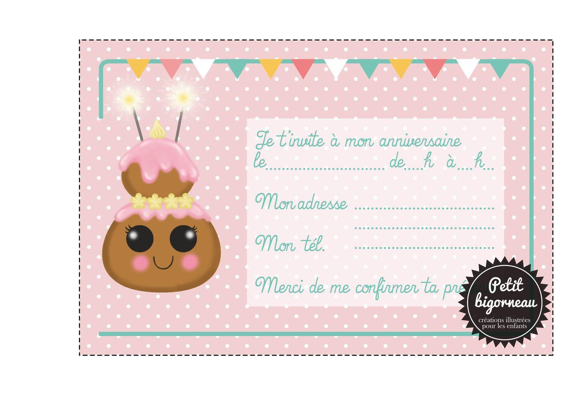 carte invitation anniversaire 11 ans
