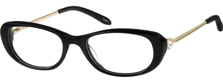 243ad39655 Black Sophisticated Oval Eyeglasses  7805821